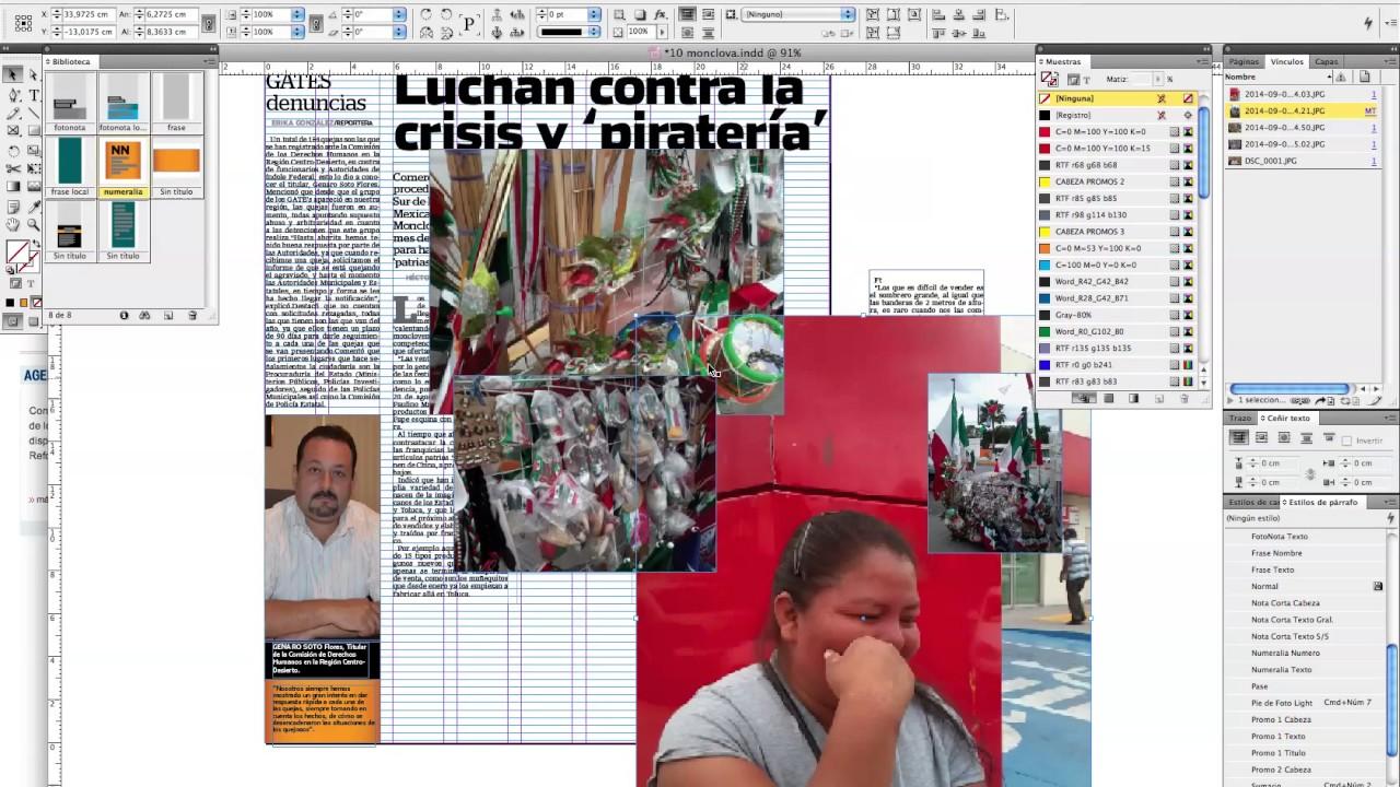 Diseño de Página para Periódico - Indesign - - YouTube