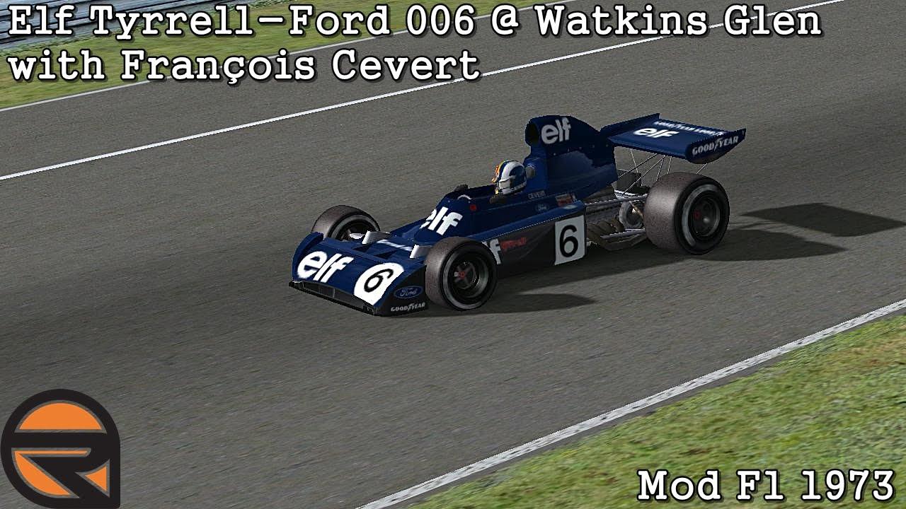 Watkins Glen Images >> [rFactor] Elf Tyrrell-Ford 006 @ Watkins Glen with François Cevert (Mod F1 1973) [HD] - YouTube