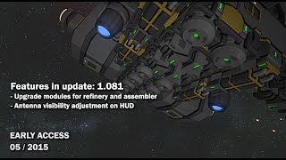 Space Engineers - Update 01.081 - Upgrade modules, Antenna visibility adjustment