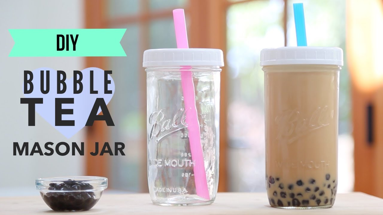 diy mason jar bubble tea tumbler youtube