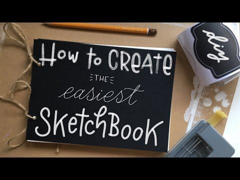 DIY: How to CREATE the EASIEST SKETCHBOOK!