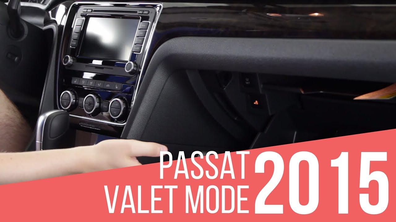 2015 Volkswagen Passat: Valet Mode