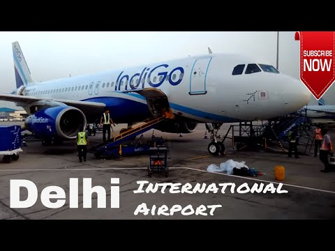 IGI Airport inside view Full HD