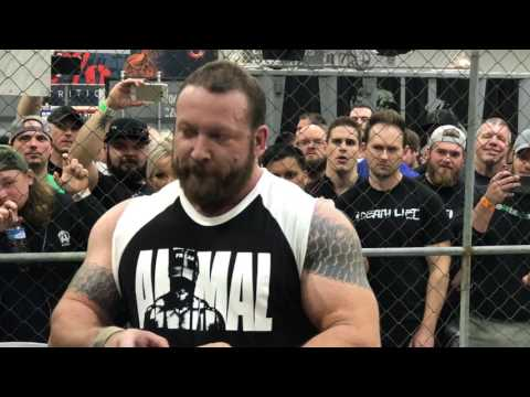 The Animal Cage meets Chris Duffin | 915 squat, 600 row, 885 pull all under 5 minutes