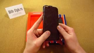 Кожаный чехол-раскладушка для iPhone 6 General Series Vertical Flip Crazy Horse от HOCO(, 2014-11-23T08:52:23.000Z)