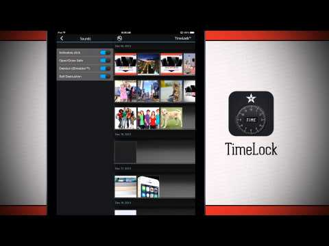 TimeLock iPad App Demo - Photo & Video vault hidden in a clock