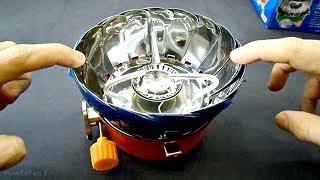 Gas Burner for Tourists Kovar K-203. Test Gas Burner for Camping