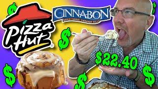 PIZZA HUT - CHICKEN ALFREDO & CINNABON MINI ROLLS