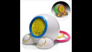 Teach Me Time Talking Alarm Clock And Nightlight, Children Bedside; Kids Alarm Clock Night Light