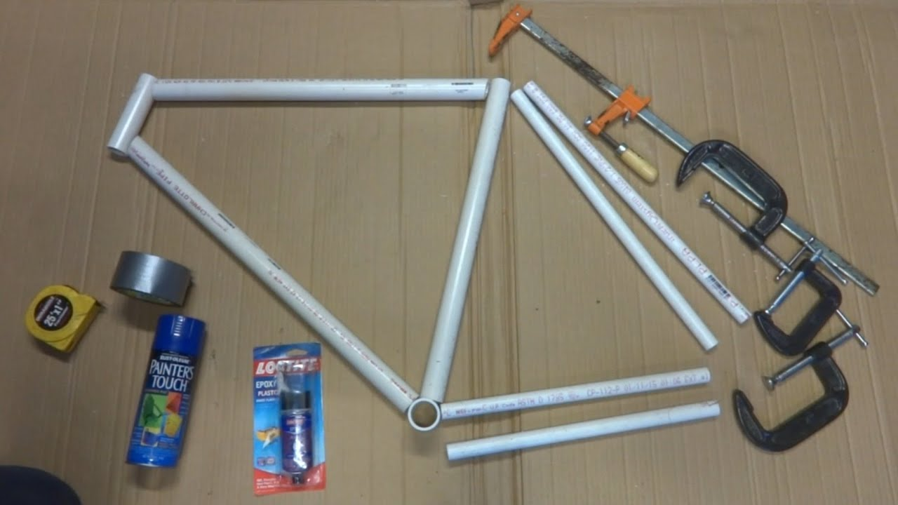 april fools build a bike frame for under 10 from pvc pipe youtube