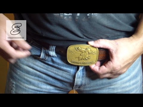 """Shine up your belt buckle""  Make it look like new with metal polish ""how to"""