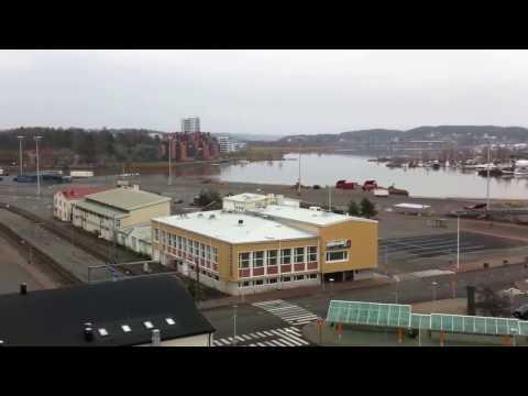 Port of Turku panorama 360° view in 23m skylift