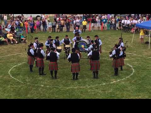 St. Columcille United Gaelic Pipe Band 2017 Capital District Scottish Games. First place Medley