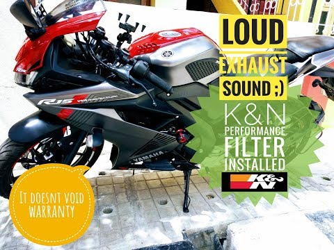 R15 V3 with K&N Performance Filter | Increase your bikes performance | It doesn't void your warranty