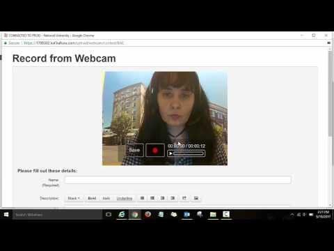 Kaltura Web Recording Tool Tutorial