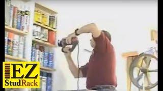 Ezstudrack Recess Wall Storage (dry-wall Garage) Video Www.ezstudrack.com