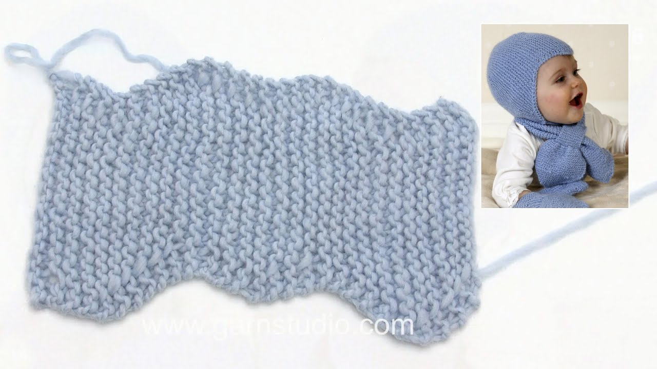 0a8cc708 How to knit the Aviator baby helmet hat - YouTube