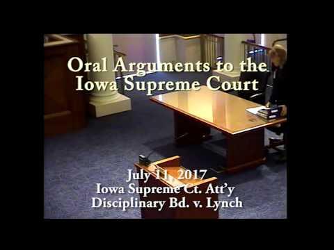 17-0193  Iowa Supreme Court Attorney Disciplinary Board V. Lawrence L. Lynch, July 11, 2017