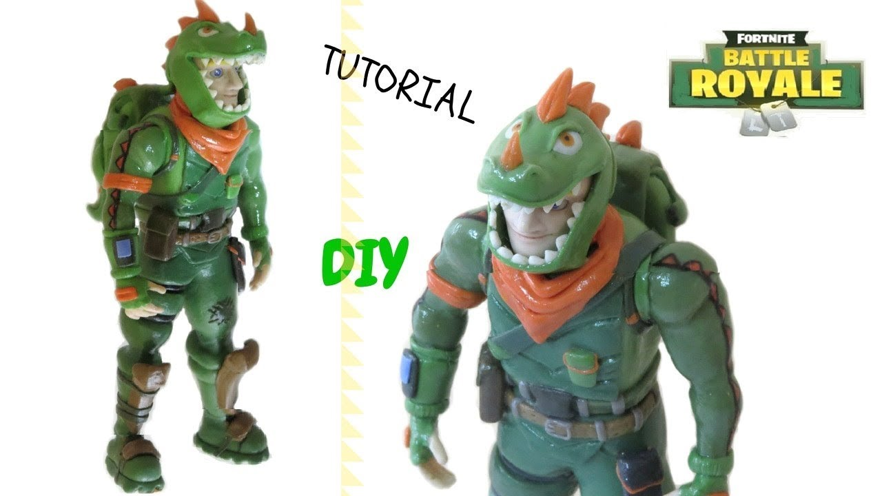 Rex fortnite skin clay tutorial cold porcelain plastilina youtube - Rex from fortnite ...