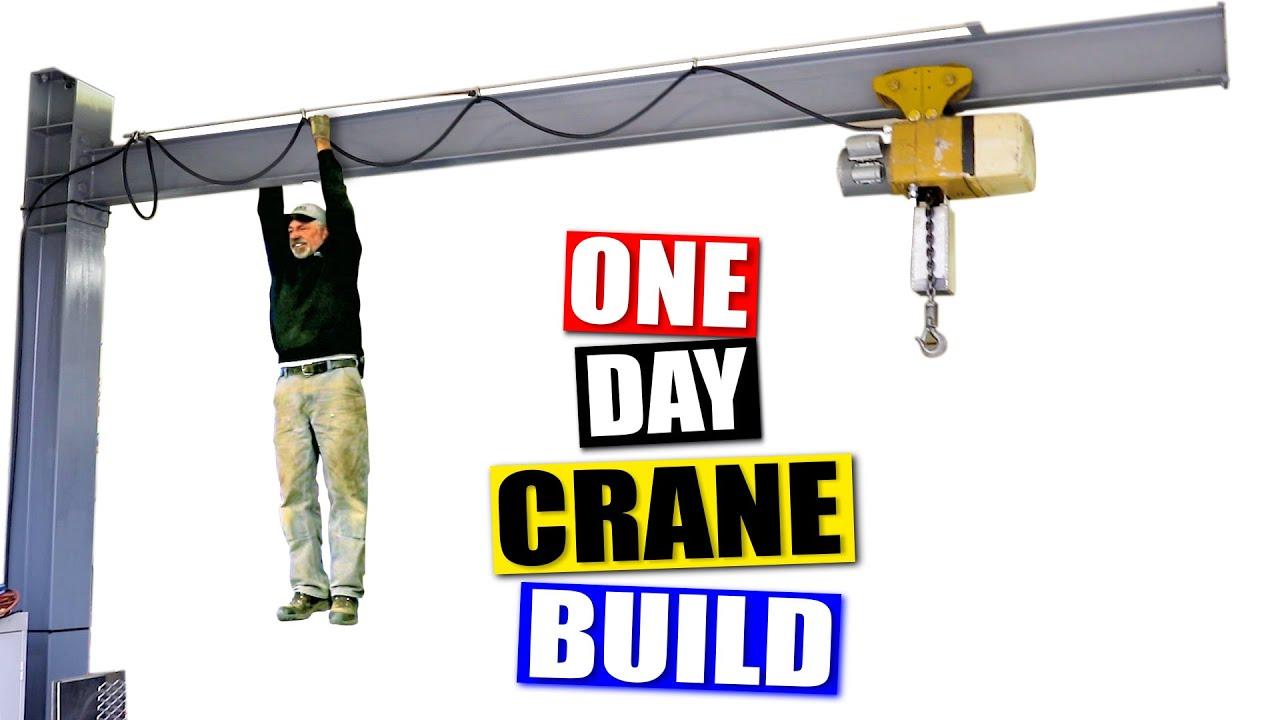 Making A Shop Crane in 8 minutes