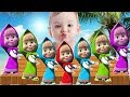 Learn Colors with Masha and The Bear  for Children, Toddlers Learn Colours for Kids