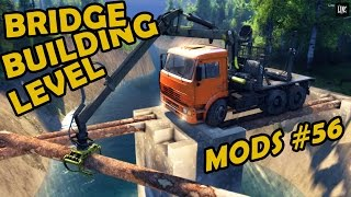 Spin Tires|mod Review #56 - Bridge Building Level
