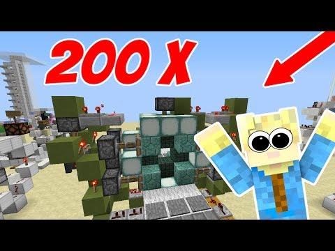 Dansk Minecraft - 200 VILDE REDSTONE MASKINER!!