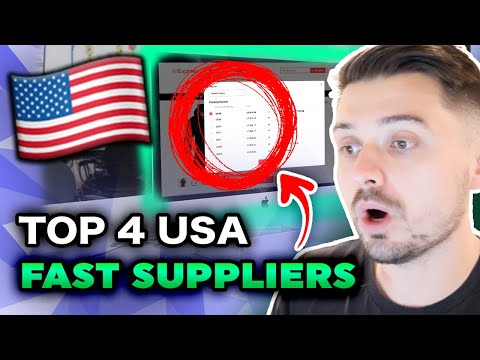 TOP 4 USA-FAST DROPSHIPPING SUPPLIERS!! Finally Get Faster Shipping Times (Aliexpress Alternatives)