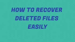 How to recover deleted files easily (Hindi)