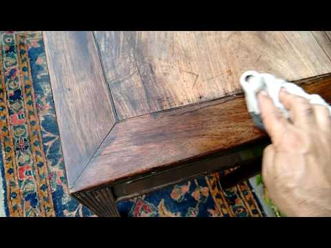HOW TO RESTORE FADED WOOD on a 150 year old Chinese Table w. DREW - American Pickers , Goodwill