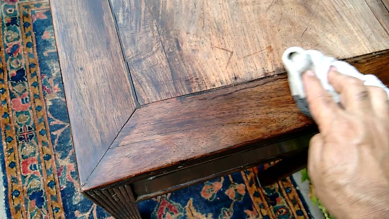 How To Restore Faded Wood On A 150 Year Old Chinese Table
