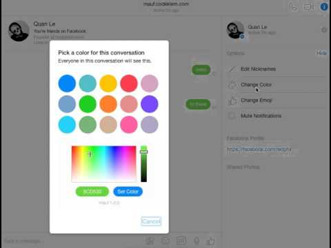 mauf – Custom Colors for Facebook Messenger