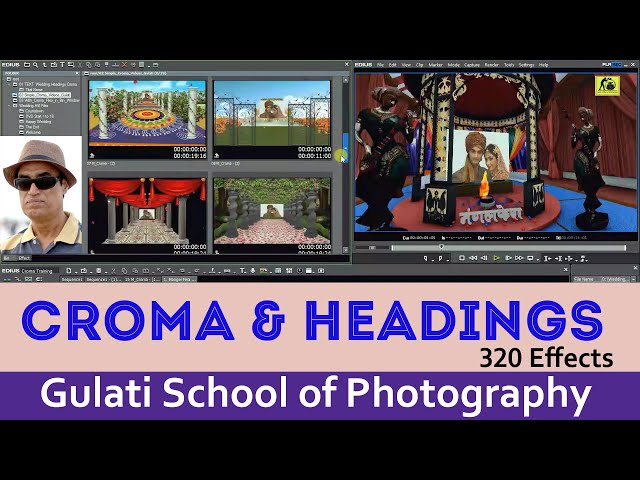 17 Croma Effects | Wedding Effects | AVI Files | Effects For Edius 6.7.8. 9 Software | 140 Effects
