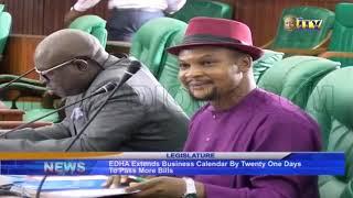 EDHA extends business calendar by twenty one days to pass more bills