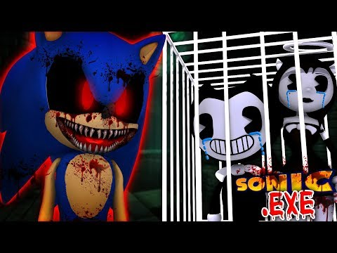 Minecraft SONIC.EXE - EVIL SONIC.EXE HAS KIDNAPPED BENDY AND TRAPPED HIM IN HIS OWN BASEMENT!!!!