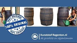 Regenton Roto Old Wood Look | Kunststof regenton.nl