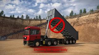How to operate a tipper - avoid serious accidents
