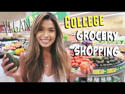 VEGAN GROCERY SHOPPING | College Student