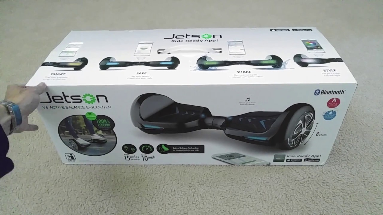 Unboxing Latest Release Jetson V6 All Apple Ios Android Smart Bluetooth Hoverboard Scooter 2016 Youtube