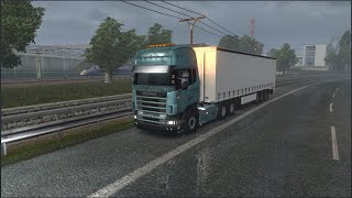 Please Subscribe For More Videos    Details & Download From http://www.modhub.us/euro-truck-simulator-2-mods/scania-r-r4-1-37-and-1-38/   One file. Correction of raindrops. Horn correction. Kriechbaum sound mod. Credits: Rafael Alves, Kriechbaum