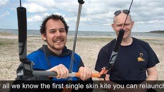 Kitesurf Future? Single Skin hybrid kite. Monjet Ninox