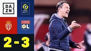 Spätes Drama und viermal Rot! K.O.vac scheitert im Titelrennen: Monaco - Lyon 2:3 | Ligue 1
