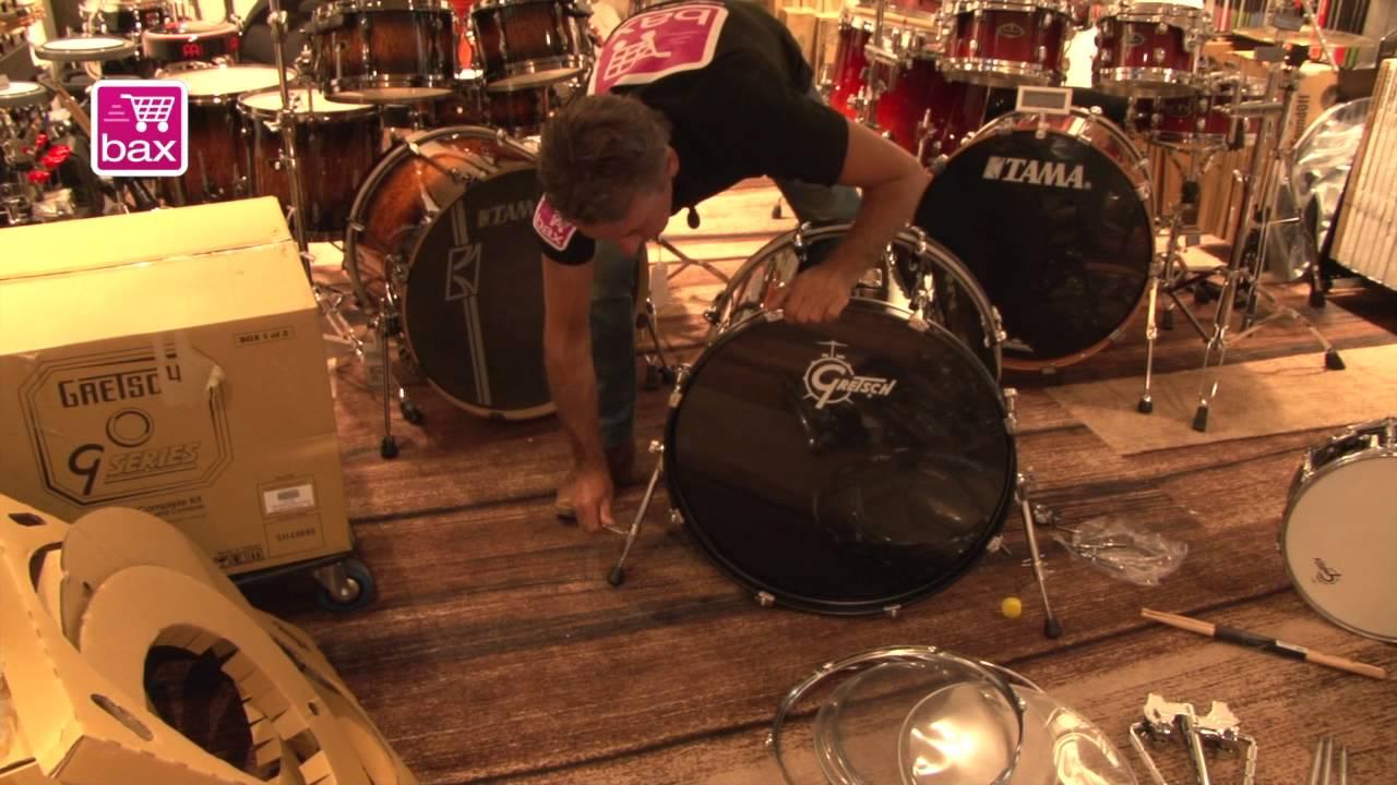 Onwijs Bax-shop.nl | Hoe monteer ik een drumstel? - YouTube NN-61
