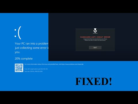 Valorant Anti Cheat Error And BSOD Fix