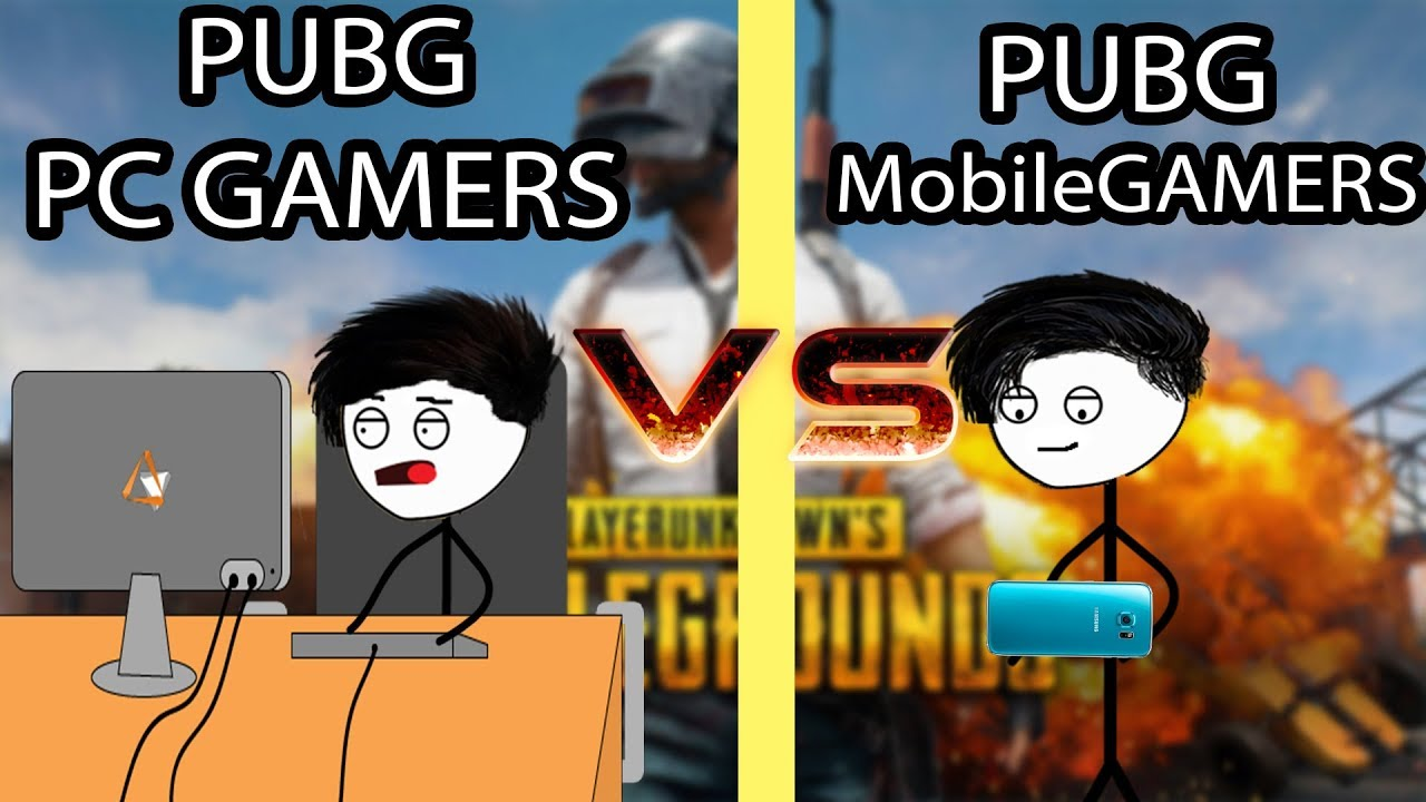 PUBG Mobile Gamers VS Pc Gamers