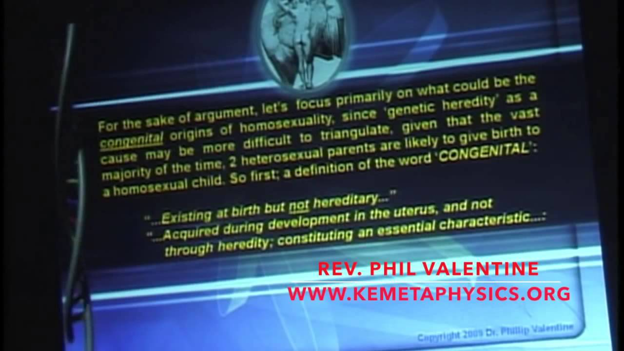 Dr.Phil Valentine   Re Engineering Gender: The Systematic Rise Of  Homosexuality