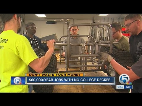 $ 60,000 year jobs with no college