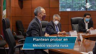 El subsecretario de Prevención y Promoción de la Salud, informó que autoridades sanitarias se reunieron con representantes del laboratorio Landsteiner Scientific, que recién dio a conocer que colabora con el gobierno ruso para traer a México 32 millones de la vacuna Sputnik V