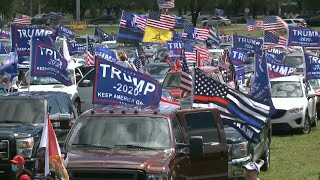 Trump supporters in battleground Florida stage 'Trump Victory' caravan | AFP