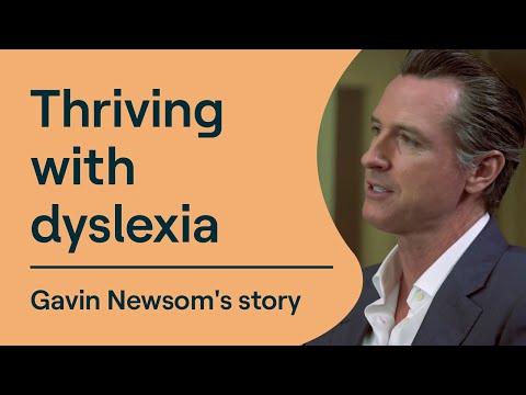 Thriving with Dyslexia: California Governor Gavin Newsom